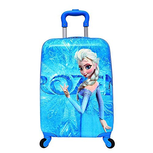 Frozen Pattern 18 Inch ( 45 cm ) Hard Side Water Proof Polycarbonate 360 A^ Rotating Exclusive Printed Pattern Fashionable Smart School Bag For Kids Comfortable And Ergonomic Handle Carry Luggage Bag