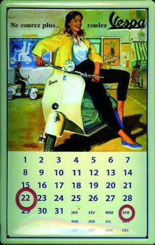 aluminium-sign-art-deco-calendar-vespa-300x200-mm300x200-mm