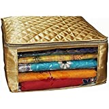 Kuber Industries Satin Fabric Saree Cover, 15 Sarees, Gold (KI8063)