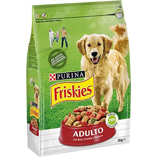 Friskies Adulto Alimento para Perros, Seco, con Carnes, Cereales Y Verduras Añadidas...