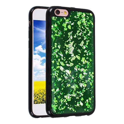 iPhone 6 Plus/6S Plus Schale Glitter Case, iPhone 6 Plus Glitter Case, iPhone 6S Plus Glitter Case, Moon mood® Ultra Slim Thin 3D Bling Strass Hülle Gliter Handytasche Kristall Schutzhülle für Apple i Grün