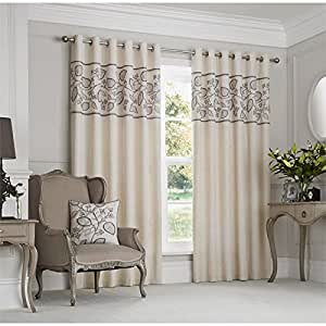 Just contempo leaf eyelet lined curtains and cushions for Tende amazon