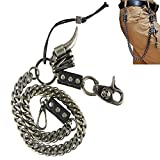uooom Herren Fashion Punk Hip-Hop Hose Schlüsselanhänger Rock non-mainstream Taille Wallet Kette