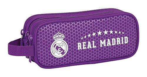 Real Madrid - Portatodo triple, 21 x 9 x 7 cm (Safta 811677635)