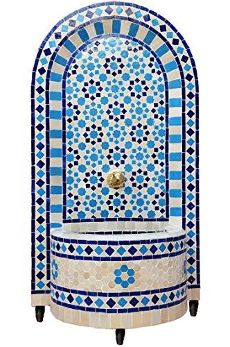 Marokkanischer orientalischer ORIGINAL Mosaik Gartenbrunnen Brunnen Mosaikbrunnen Zimmerbrunnen Muster 6 inklusive Pumpe