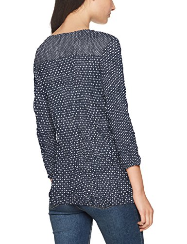 TOM TAILOR Damen Bluse Crincle Blouse Shirt Blau (Real Navy Blue 6593)