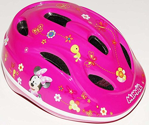 Fahrradhelm für Kinder 51-55cm Spider-Man, Turtles, Cars, Princess, Minnie Mouse 4-12 Jahre (Minnie Mouse)