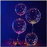 Slopow LED Bobo Transparent Ballon 4 Stück mit LED-Licht für Party Geburtstage Hochzeiten Weihnachten Urlaub Dekorationen
