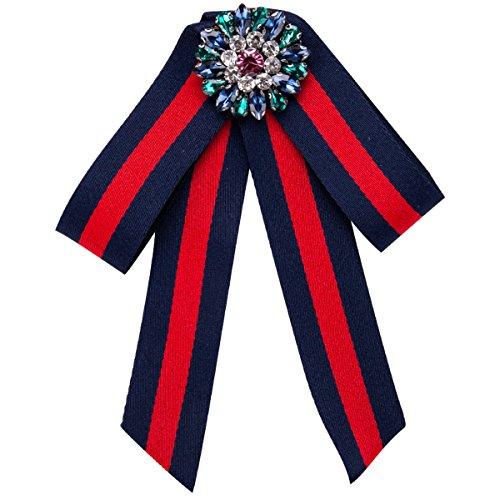lich Pin Fliege Accessoires Temperament Bowknot Mode 10.7 * 14.6cm,Blue-OneSize (Einfach Weibliche Kostüm)