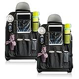 Die besten Autositze für ein 1-Jährige - Auto Rückenlehnenschutz, Rückenlehnen Tasche, Trittschutz mit Rücksitz-Organizer, Rücksitzschoner Bewertungen