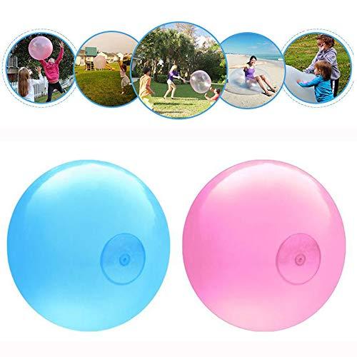 Aufblasbare TPR Bubble Ball Luftballons Erstaunlich Reißfeste Stretch Firm Ball 50 cm / 25 zoll Für Spielen Im Freien Spielzeug Kinder Kinder Geburtstag Lustige Geschenk Packung von 2 (Blau & Rosa)
