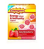 EMERGEN-C Juicy Strawberry Energy Release & Immunity Support Food Supplement 8 Sachets - 3 Pack