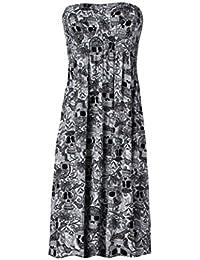 Mix lot Frauen neue Scher boobtube Bandeau-Blumendruck oben erweiterten Unter Damen sexy trägerlosen ärmelloses Kleid Casual Wear Größe 36-46