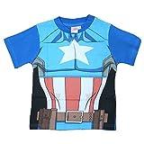 Marvel Avengers - niños T-Shirt Avenger Ultron Hulk Iron Man del Capitán América Captain America Blau Talla:2-3 años