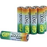 Akku Batterien GP Batteries NiMH AA (Mignon, HR06, 1.2H, NH15) 2600mAh, 1,2V (8 Stück im Sparpack)