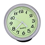 #6: Rrimin 1.6 inch Mini Anti-Scratch Vehicle Quartz Car Clock with Luminous Light (Yellow)