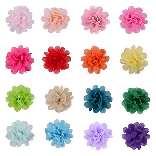 (Demarkt Chiffon Blume Haarblume Clip Blumen Haarspangen Deko Band Haar Clipps Kostüm Hand DIY Verzierungen)