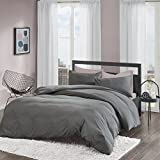 Bettwäsche 135x200cm Mikrofaser Grau Bettbezug Kissenbezug Angenehm Weich Solid Duvet