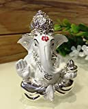 #8: Karigaari India 999 Silver Ganesha Idol/ Car Dashboard Ganesha / Best for Gifting Option