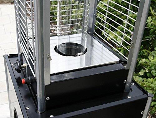 empasa Gasheizer Heizpilz 'Optical Pro' SCHWARZ MATT Heizstrahler Terrassenheizer; - 8