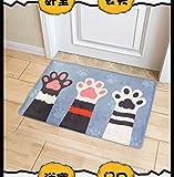 Colores Felpudo Animales limpiabarros para puerta Alfombrilla Interior y Exterior antideslizante y lavable, 1, 50 x 80 cm