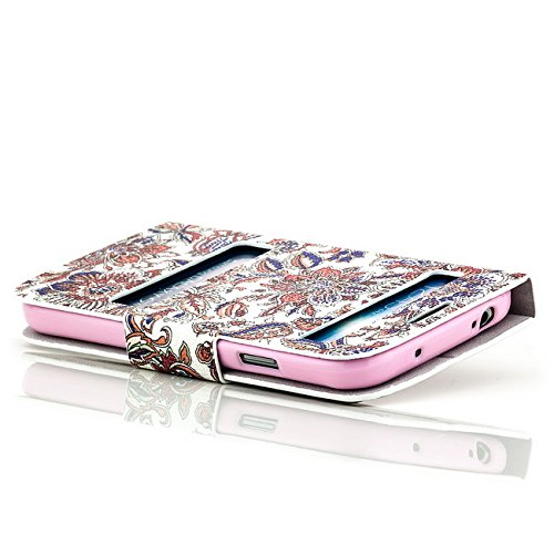 Saxonia Housse de Protection pour Apple iPhone 5 5S | Coque Poche Case | Motif: Boucle Motiv Blumen Mix