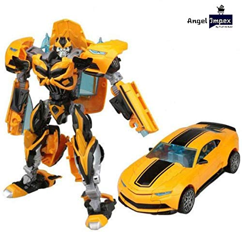 Angel Impex Robot to Car and Again Robot, A 2 Mode Toy for Kids (Yellow)