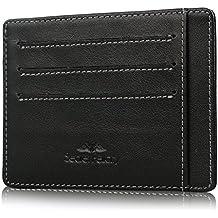 Secret Felicity Männer dünne Karteninhalter RFID Blocking Leder Fronttasche Brieftasche, Ledergeldbörse, Geldbörse Herren Kreditkartenetui SFR1