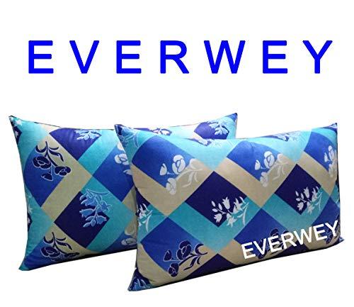 Everwey Enterprise Medium Hard Cotton Material Printed 17x27 inch 2 Pillow/Pillow Set