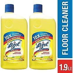 Lizol Disinfectant Floor Cleaner - 975 ml (Pack of 2, Citrus)