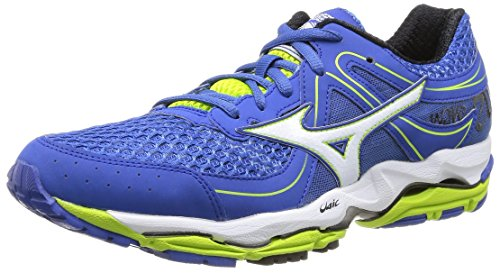 Mizuno  Wave Enigma 3, Chaussures de sport homme Multicolore - Olympian Blue/White/Lime Punch
