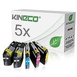 5 Tintenpatronen kompatibel zu Brother LC-225XL 227XL, MFC-J4420DW MFC-J4620DW 4-in1, DCP-J4120DW MFC-J4425DW MFC-J4625DW, Schwarz je 28ml, Color je 13ml