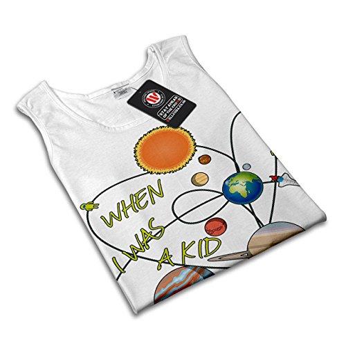 Wann ich War EIN Kind Solar System Damen S-2XL Muskelshirt | Wellcoda Weiß