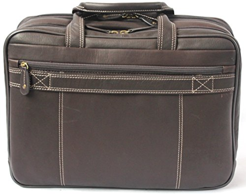 Cortez - Aktentasche aus kolumbianischem Leder - Laptoptasche bis 15,6 Zoll - Weich - Braun Braun