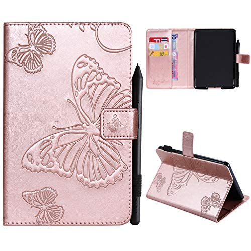 Kindle Paperwhite Hülle Kunstleder Tasche Schutzhülle Hardcover Cover für kindle paperwhite 10th Generation 2018/kindle paperwhite 1 2 3 Version Schmetterling Falten Kartenfach Ständer Anti-Fall Etui - 2 Fall Kindle-version