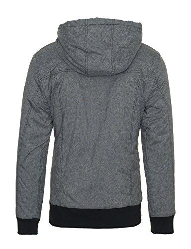 Sublevel Herren Herbst Winter Übergangs Jacke Parka Mantel Winterjacke Outdoor B253 Dunkelgrau