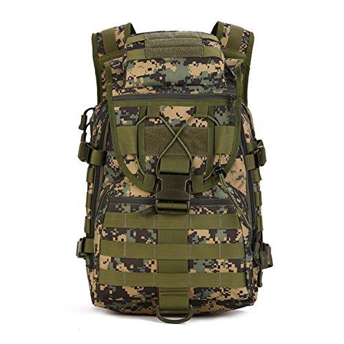 Imagen de huntvp táctical militar  de asalto gran bolsa de hombro impermeable 40l para las actividades aire libre senderismo caza viajar color negro marrón camuflaje del desierto camuflaje de selva  alternativa