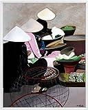 Asiatisches Poster Kunstdruck und Kunststoff-Rahmen - Markt