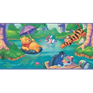 Blue Mountain Wallcoverings wfp6800Winnie the Pooh prepasted pared frontera