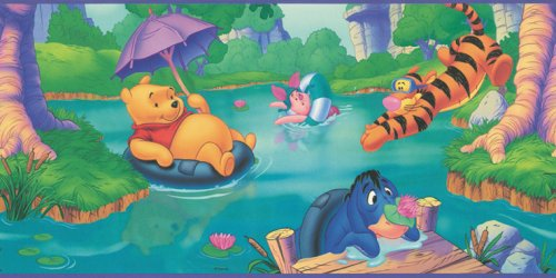 Blue Mountain Wallcoverings wfp6800 Winnie the Pooh prepasted pared frontera