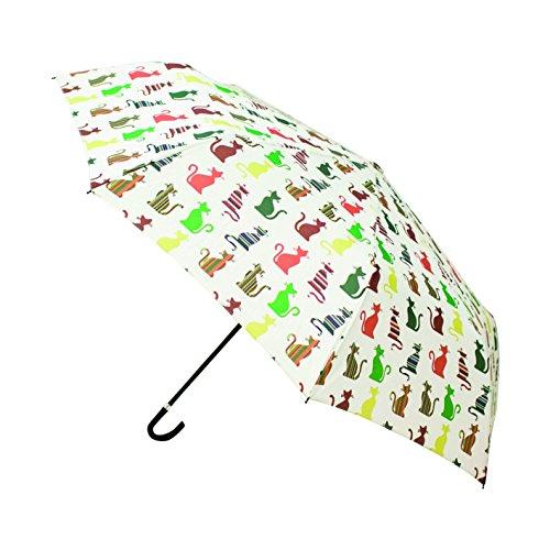 Signare Paraguas Mango Curvo en el diseño Gato descarado