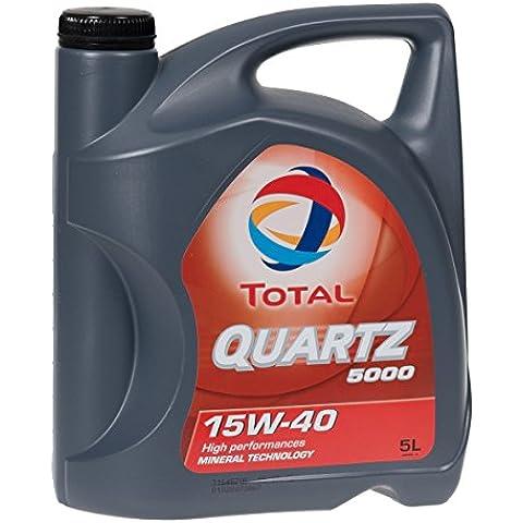 Total Quartz 5000 15w40 - Olio motore TOT-148645 = 5 litri