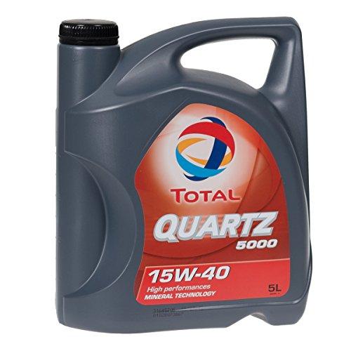 Total Motoröl Motorenöl Schmierung Schmiermittel Quartz 5000 Schmiermittel 15W-40 5L 148645