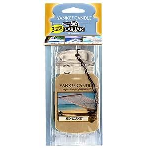 Yankee Candle 1137673 Pack de 3 Désodorisantes pour Voiture senteur Lemon Lavande en jarre Multicolore