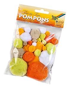Folia 50393-Pompones Tono en 30Unidades, diseños Surtidos en Diferentes tamaños, Color Azul