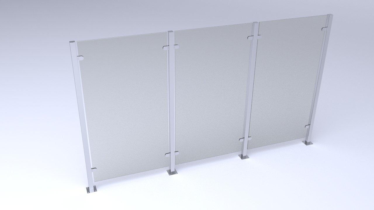Glas Wand, Büro Wand, Trennwand, Sichtschutz, Abgerenzung, Garten Wand