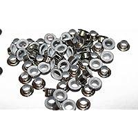 100 x 4mm Ösen für Kleidung und Leder Handarbeiten - Tüllen für Hinzufügen Schleifen, Spitzen und Stoff in Kunst und Nähen Projekte - Ideal für Beutel, Scrapbooking, und Bekleidung Reparatur - metall, Weiß, 4 mm, 4mm