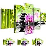 Bilder 200 x 100 cm - Orchidee Bild - Vlies Leinwand - Kunstdrucke -Wandbild - XXL Format – mehrere Farben und Größen im Shop - Fertig Aufgespannt !!! 100% MADE IN GERMANY !!! - Feng Shui – Bambus – Orchidee 502051a