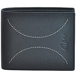 Gentleman Genuine Leather Stylish Wallet for Men Boy Black Bi Fold with 9 Cardholder