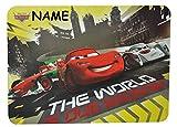 Unterlage - Disney Auto Cars - 43 cm * 29 cm incl. Namen - Tischunterlage / Platzdeckchen / Malunterlage / Knetunterlage / Eßunterlage - Lightning Mc Queen / ..